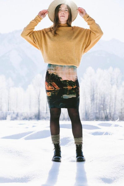 Desolation Sound Pencil Skirt