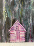 Pink Cabin In The Woods
