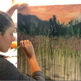 Tuesdays. Sept 8-29 Paint an Alpine Meadow with Heidi - All ages over 10yrs - Live Online Course