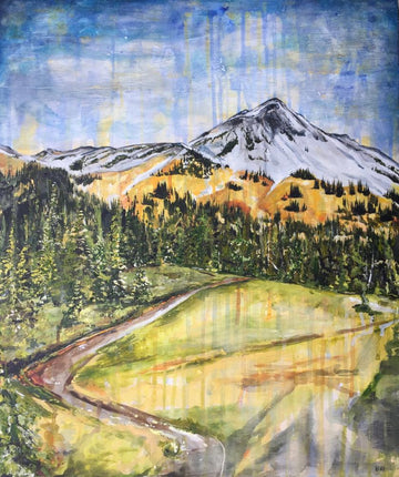 Acrylic painting of Black Tusk Meadows in Garibaldi Provincial Park. By Heidi Denessen
