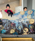 Ts'zil - Mt Currie Twilight Bubbles Woven Tapestry Blanket