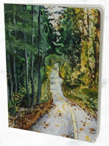 Let your ideas flow in this large notebook adorned with Heidi's painting of a the valley trail in Whistler, BC. Jot down & sketch your dreams & projects.