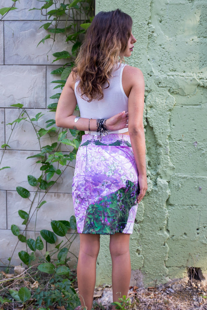 Floral Bear Pencil Skirt