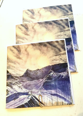 'Horstman Glacier' Blank Greeting Card - 3 Pack