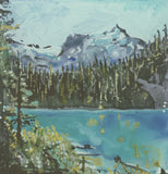 Painting of Joffre Lakes by Heidi Denessen
