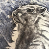 Original mixed media painting of the Hoary Marmot of Whistler. Encaustic top coat. By Heidi Denessen.