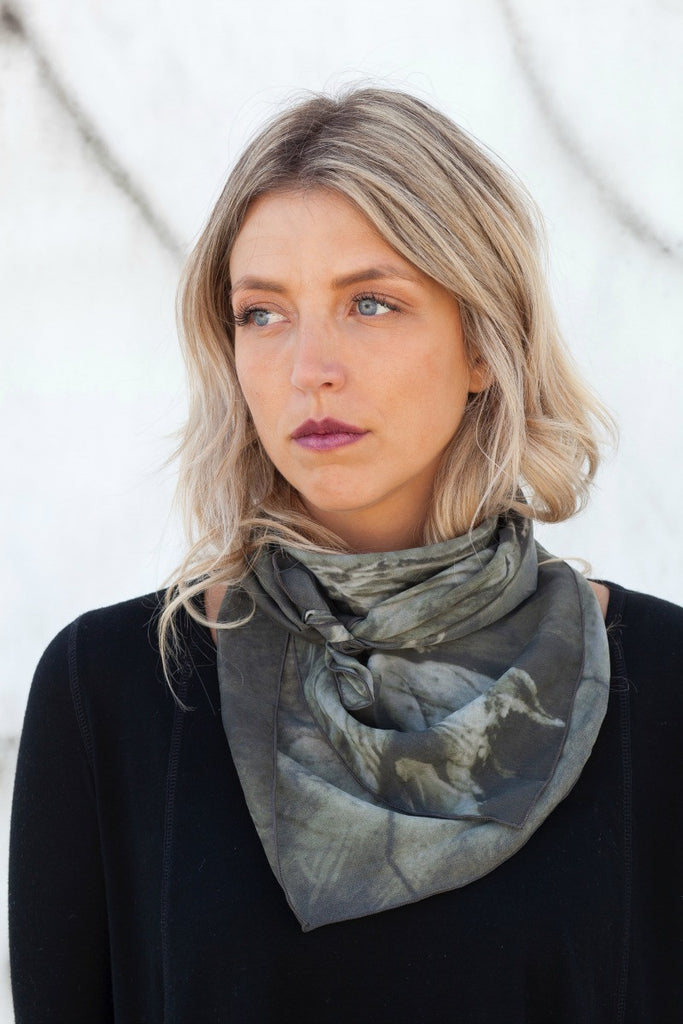 After The T-Bar Big Silk Square Scarf