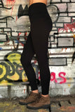 Recycled high waist legging made in Canada.