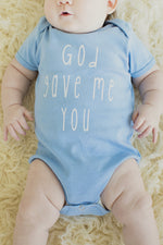 God Gave Me You Onesie BLUE