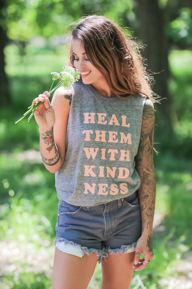 Heal Them With Kindness Muscle Tank