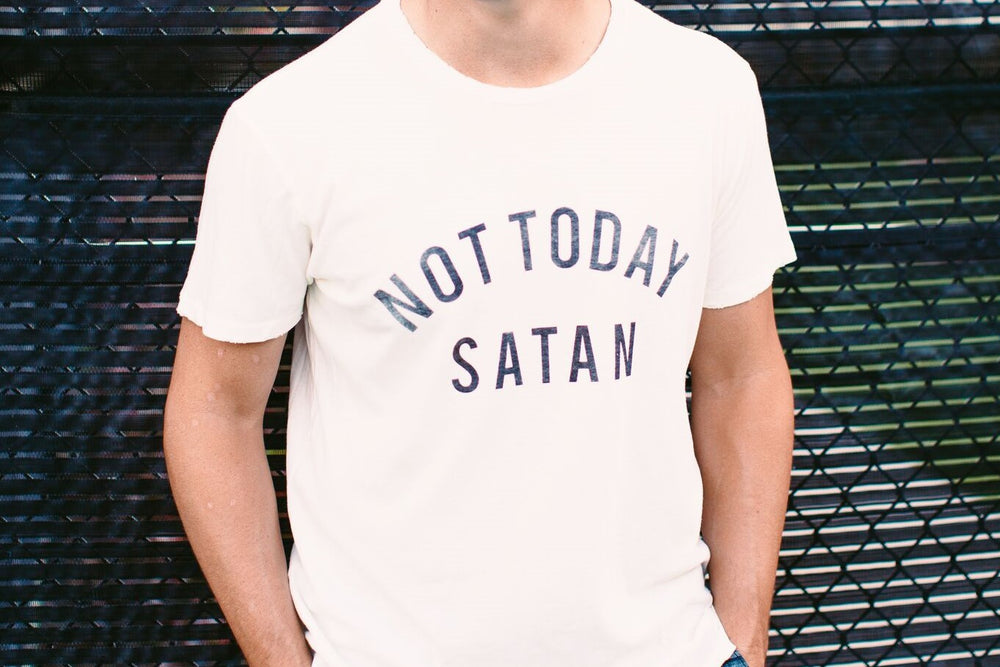Men's Not Today Satan Tee IVORY