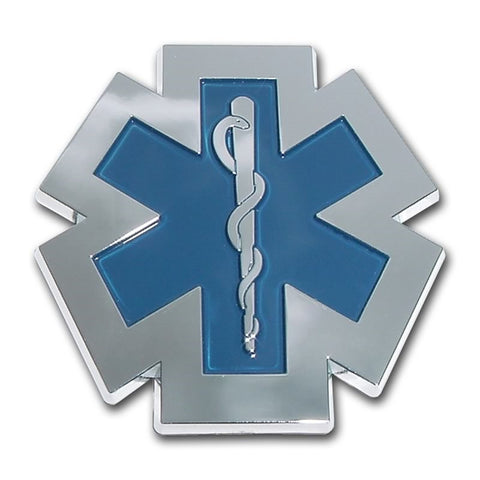 EMS Chrome Auto Emblem (Blue)