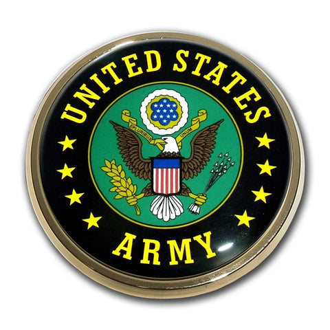 US Army Chrome Auto Emblem (Eagle)