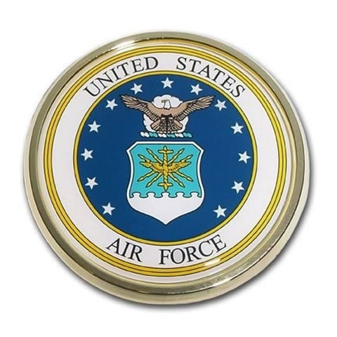 US Air Force Chrome Auto Emblem.