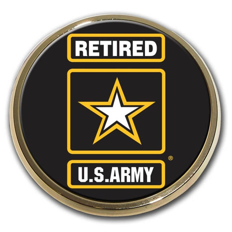 US Army (Retired) Chrome Auto Emblem