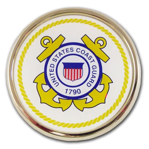 US Coast Guard Chrome Auto Emblem