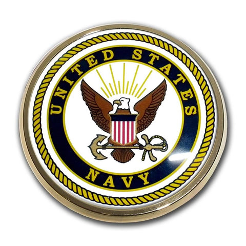 US Navy Chrome Auto Emblem