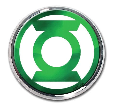Green Lantern chrome Auto Emblem