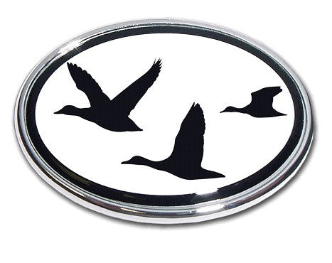 Hunting Chrome Auto Emblem (Duck Oval)