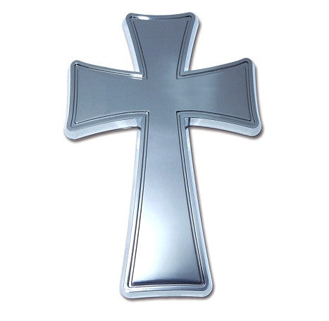 Tapered Cross Chrome Auto Emblem