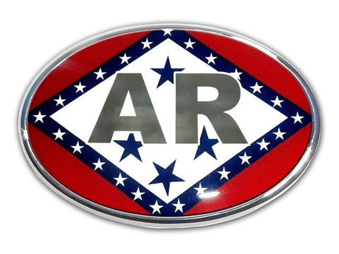 Arkansas Chrome Auto Emblem