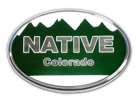 Colorado Native Chrome Auto Emblem