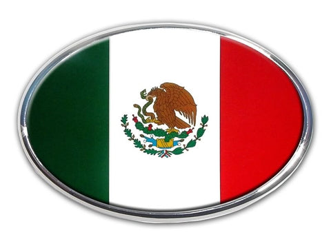 Mexico Chrome Auto Emblem