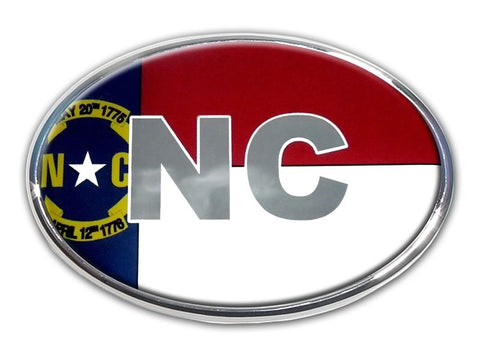 North Carolina Chrome Auto Emblem