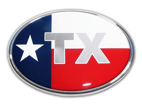 Texas Chrome Auto Emblem