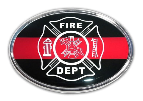 Firefighter Chrome Auto Emblem
