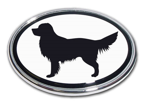 Golden Retriever Chrome Auto Emblem