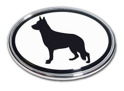 German Shepherd Dog Chrome Auto Emblem