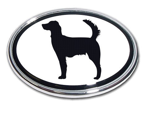 Irish Setter Chrome Auto Emblem