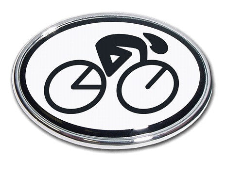 Cycling Chrome Auto Emblem (Oval)