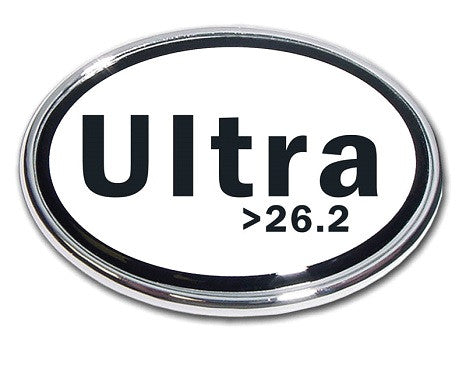 Ultra Marathon >26.2 Chrome Auto Emblem