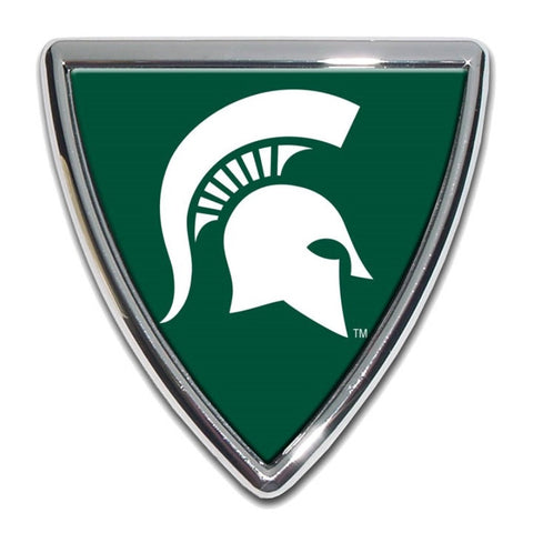 Michigan State Chrome Auto Emblem.  Officially Licensed product.