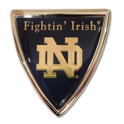 Notre Dame Chrome Auto Emblem.  Officially Licensed product.