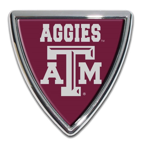 Texas A&M Chrome Auto Emblem.  Officially Licensed product.