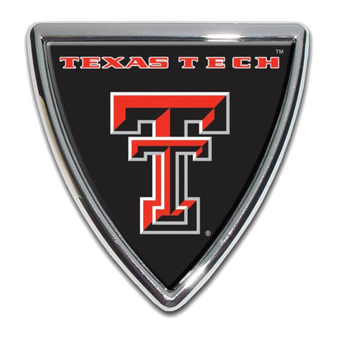 Texas Tech Chrome Auto Emblem.  Officially Licensed product.