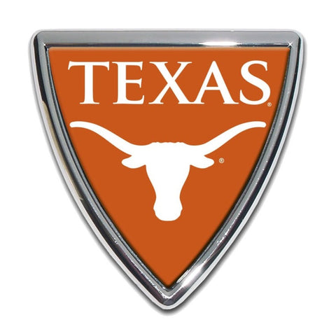 University of Texas Chrome Auto Emblem.  Officially Licensed product.