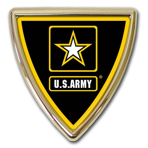 US Army Chrome Auto Emblem