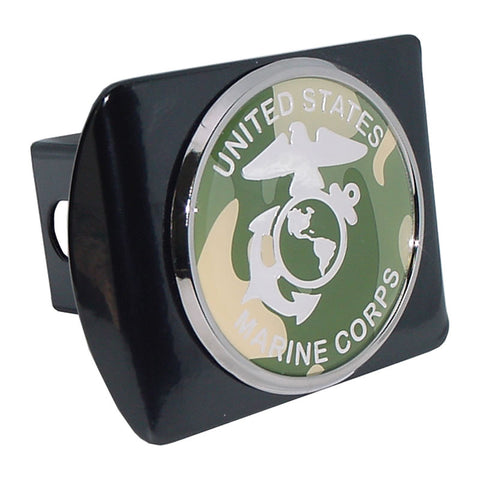Marine Corps (Camo Seal) Black Hitch Cover