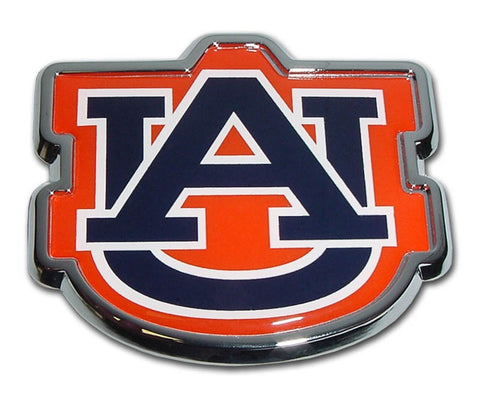 "Auburn University Chrome Auto Emblem (""AU"" Navy w/color)"