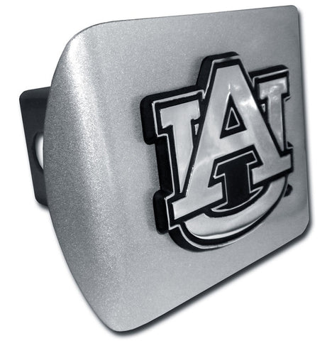 "Auburn University (""AU"") Brushed Chrome Hitch Cover"