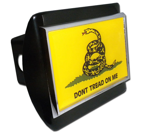 Gadsden Flag Black Hitch Cover