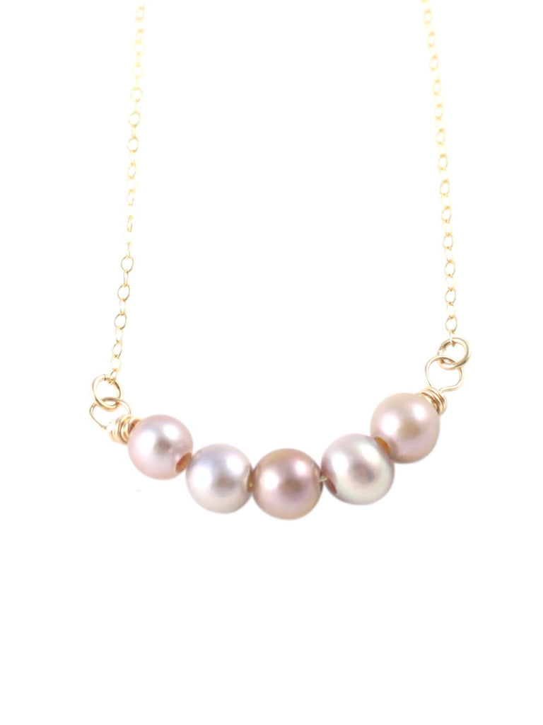 Pearly Mauve Necklace