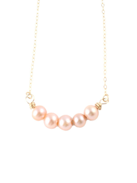 Pearly Peach Necklace