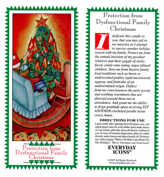 Everyday Icons | Protection from Dysfunctional Family Christmas