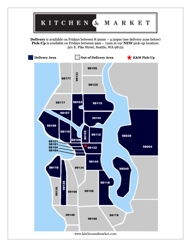 Kitchen & Market Delivery Map Fall 2021