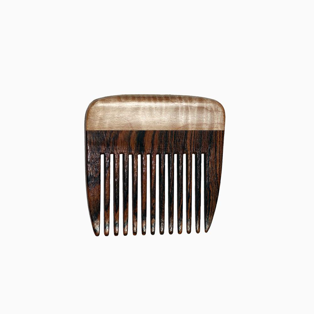 Beard Comb - Beard Comb With Bocote & Curly Maple Fine Toothed
